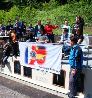 Hausbootfahrt mit Jugendlichen aus Deutschland, aus Frankreich und aus der Schweiz