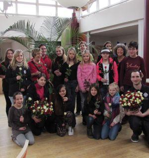Rosenaktion im Weiler Pflegeheim