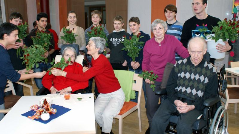 Rosen für Heimbewohner