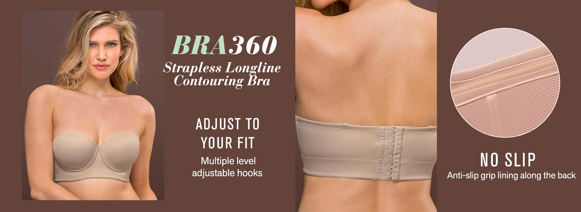Bra 360: Strapless Longline Contouring Bra
