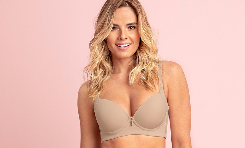 Back Smoothing Bra with Soft Full Coverage Cups - High Profile