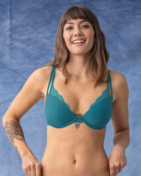 double strap bra with delicate lace--MainImage