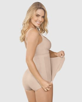 high-waisted firm compression postpartum knicker with adjustable belly wrap--MainImage