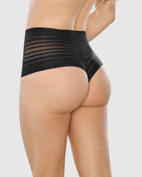 lace stripe high-waisted cheeky hipster panty--MainImage