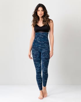extra high waisted firm compression legging - activelife-838- Azul Oscuro-MainImage