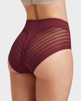 calzon faja clasico con control suave de abdomen y bandas de tul--MainImage