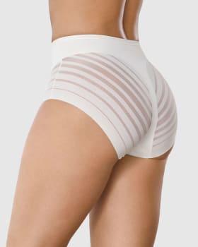 panty faja clasico con control suave de abdomen y bandas de tul-898- Ivory-MainImage