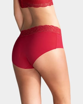 ultra light lace trim hipster knicker-370- Rojo-MainImage