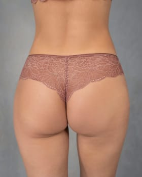 mid-rise sheer lace cheeky panty-922- Terracota-MainImage