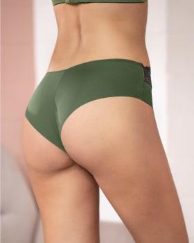 ultra-light lace waistband cheeky panty-619- Verde Oliva-MainImage