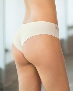 sexy calzon cachetero en tela ultraliviana con encaje comodidad total-898- Marfil-MainImage