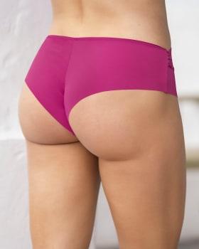 sexy calzon cachetero en tela ultraliviana con encaje comodidad total-944- Fucsia-MainImage