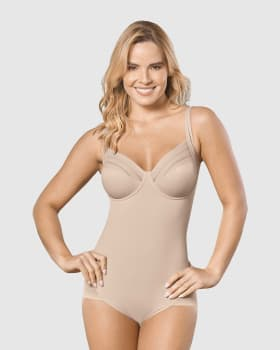 firm shaper bodysuit with underwire cups-802- Nude-MainImage