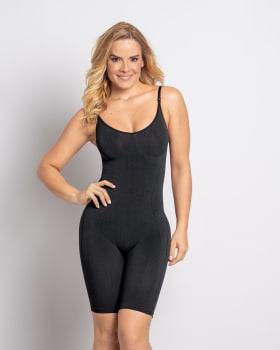 full coverage seamless smoothing bodysuit-700- Black-MainImage