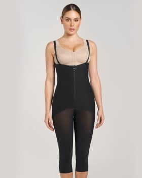 post-surgical hook-and-zip mid-calf sculpting body shaper-700- Black-MainImage