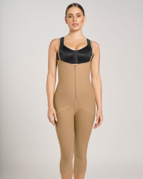 post-surgical hook-and-zip mid-calf sculpting body shaper-880- Café-MainImage