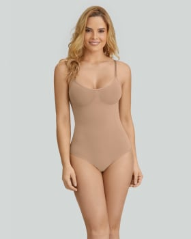 seamless smoothing string bodysuit-852- Café-MainImage