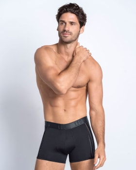 boxer corto con tecnologia de ajuste perfecto-713- Black/Stripes-MainImage