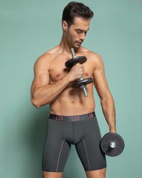 leo adjust-fit sport long boxer brief-722- Gris Oscuro-MainImage