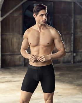 boxer medio de tela texturizada y secado rapido-700- Black-MainImage