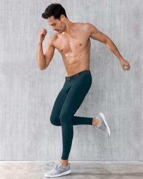 licra deportiva para hombre con mallas transpirables-605- Verde Esmeralda-MainImage