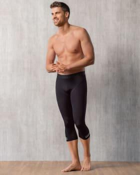 mens activelife reflective stripe capri legging-074- Black-MainImage