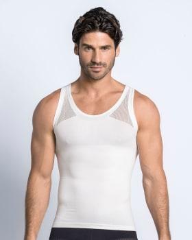 camiseta ajustada para hombre de compresion suave-000- White-ImagenPrincipal