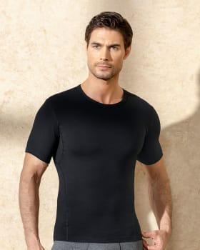 camiseta atletica de control con malla incorporada-700- Black-ImagenPrincipal