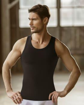 camiseta atletica leo de con suave control-700- Black-ImagenPrincipal