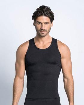 camiseta atletica leo con control fuerte en abdomen-700- Black-ImagenPrincipal