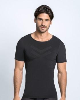 camiseta de compresion suave con tecnologia skinfuse para total comodidad-700- Black-ImagenPrincipal