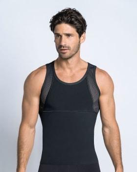camiseta sin mangas de compresion fuerte ideal para uso diario-700- Black-ImagenPrincipal
