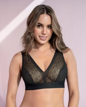 high coverage tulle bralette sexy touch--MainImage