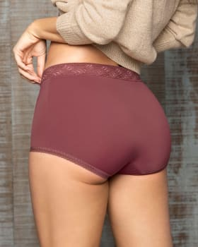 3-pack high-waisted boyshorts with lace accents-S18- Terracota / Verde / Marfil-MainImage