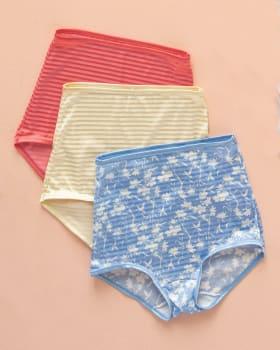 paquete x 3 calzones clasicos con maximo cubrimiento-S17- Estampado / Coral / Marfil-MainImage