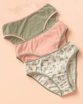 paquete x 3 calzones tipo bikini en algodon con total cubrimiento-S22- Arena / Rosado / Estampado-MainImage