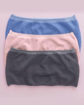 3-pack stretch boyshort panty-S30- Azul Medio / Gris / Rosado Claro-MainImage