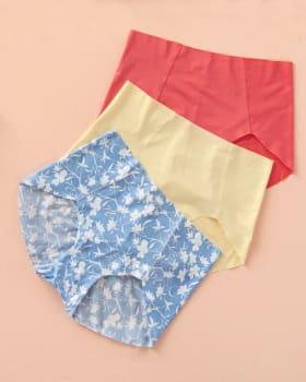 paquete x 3 calzones en tela ultradelgada-S16- Estampado / Coral / Marfil-MainImage