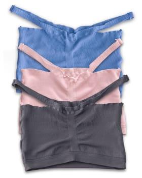 comfortable bralette 3-pack-S30- Azul Medio / Gris / Rosado Claro-MainImage