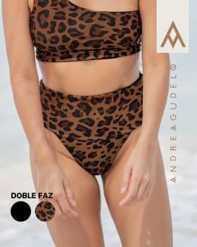 calzon de bikini tiro alto doble faz en pet reciclado-206- Negro / Estampado-MainImage