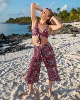 pantalon estilo culotte con elastico en cintura--MainImage
