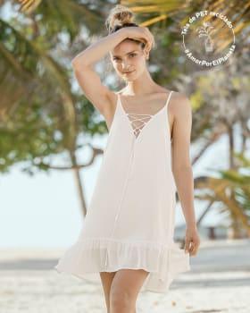 vestido corto multiproposito elaborado en fibra natural rayon-898- Marfil-MainImage