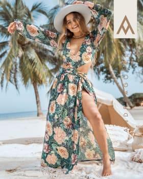 falda multiproposito anudable en cintura elaborada en pet reciclado-064- Estampado Flores-MainImage