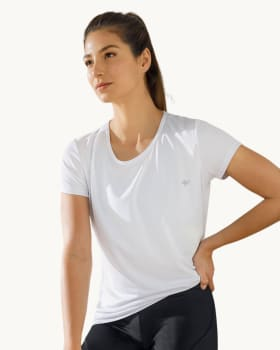 quick-dry short sleeve round-neck active tee-000- White-MainImage