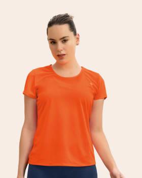 quick-dry short sleeve round-neck active tee-260- Naranja-MainImage