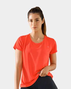 quick-dry short sleeve round-neck active tee-273- Naranja-MainImage