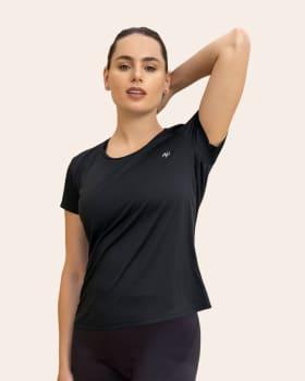 quick-dry short sleeve round-neck active tee-700- Black-MainImage