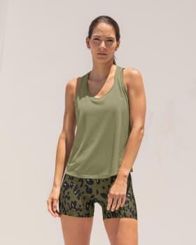 camiseta deportiva de secado rapido y silueta semiajustada para mujer-600- Verde Claro-MainImage