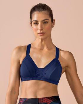 eco-friendly quick-dry sports bra-509- Azul Oscuro-MainImage