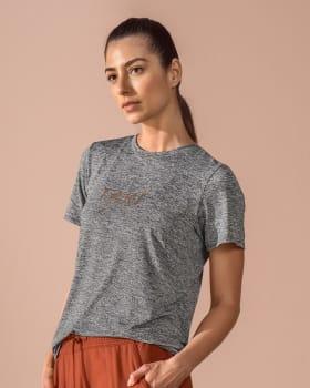 short-sleeve back slit sports t-shirt-732- Gris Jaspe-MainImage